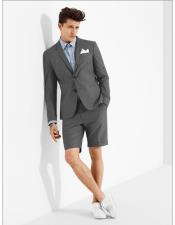 MO607 mens summer business suits with shorts pants set