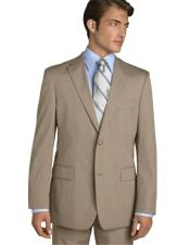Business Tan ~ Beige~Sand~Mocca 2 Button Suit