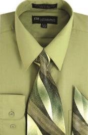SW910 Milano Moda Classic Cotton Dress Shirt with Ties