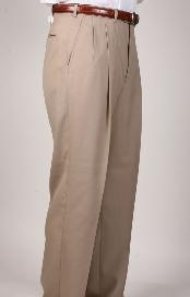 QJ9029 British Tan khaki Color ~ Beige Parker Pleated
