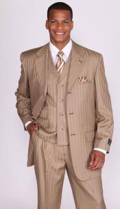 tan pinstripe, Suits for Men, Mens Tan Suits