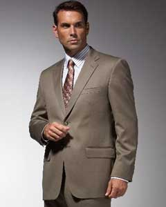 Taupe affordable suit Online Sale