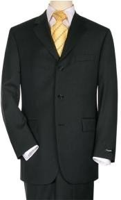 3BS03 3 Buttons Style Suit Jet Liquid Jet Black