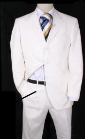 EMIL_T63 Highest Quality 3 Button Style White suit +