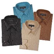 Dress Shirt Polka Dot Pattern