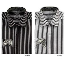 PNF67 Stylish trendy casual Fashionable Stripe Dress Shirt Liquid