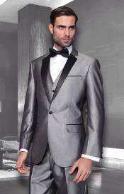 Mens Sharkskin Suits Unique Colorful Grey