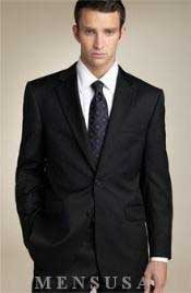 Mens-Two-Button-Black-Suit