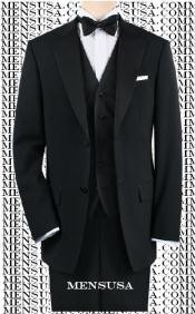 ASHI992 Liquid Jet Black Tuxedo 1or2or3or4 Button Style