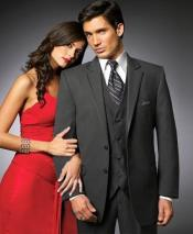 YS32 2 Btn Suit/Stage PartyTuxedo Satin Trim outlines a
