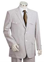 Sear Sucker Suit Fashion Summer Cheap