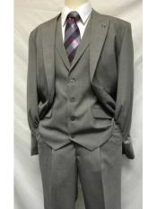 SM1210 Two Button Gray 1920s Style Mart Vested Solid
