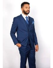 Mens 3 Piece Indigo Blue