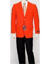 Mens Pacelli Classic Orange Blazer