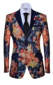 Button Peak Lapel Fashion