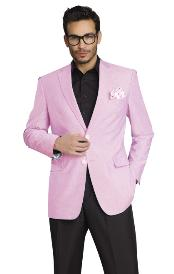 RFV767 Stylish Two Button Jacket Pink