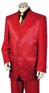red color shade243 3 Piece Designer Fashion Trimmed Two