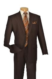 D62T_2TR-WMA82 Poly-rayon Executive Pure Solid brown
