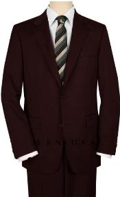 Mens-Two-Buttons-Brown-Suit