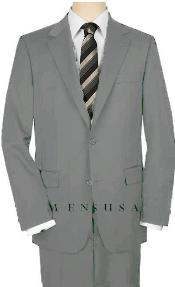 JNA72 UMO High-Quality 2 Button Style Light Gray Suit