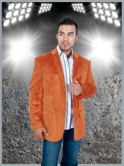 NAF9 Stylish 2 Button Style Sport Jacket Orange Discounted