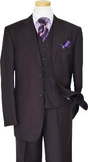 KA1229 Solid Plum Eggplant Very Dark Purple color shade