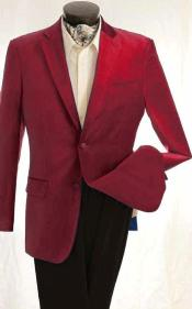 KA1273 Fashion 2 Button Style Velvet Winish Burgundy ~