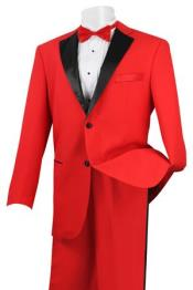 SD55X Stylish 2 Button Style Tuxedo red color shade