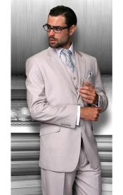 PN-S53 Notch Lapel Two Buttons Side Vented Vested No
