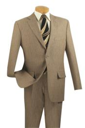 PN-N67 2 Button Style Suits for Online Tan khaki