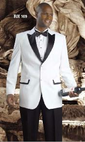 KA1151 White Tuxedo Fashion Dress Suit