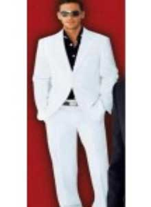 MF8920 Suit 2-Button White Suit + Liquid Jet Black