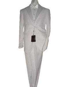 KA1472 White 2 Button Style Tuxedo Superior Fabric 150s