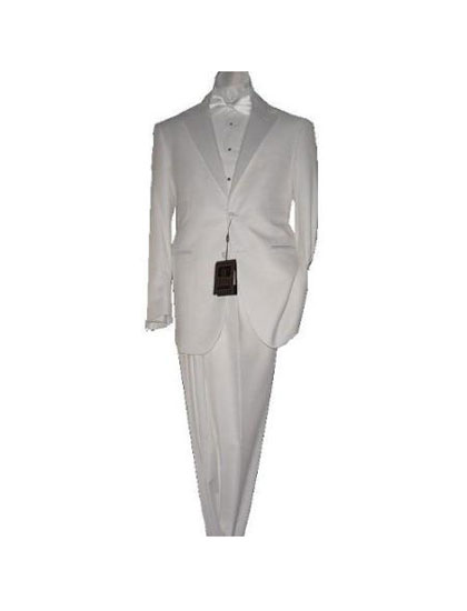 KA5467 White 2 Button 1920s 40s Fashion Clothing Look