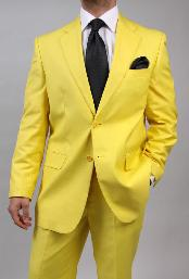 KA1456 Two Button Yellow Suit