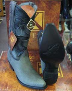 MK953 Genunie Shark King Exotic Snip Toe Western Cowboy