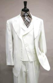 Creme Vested 6 button Single