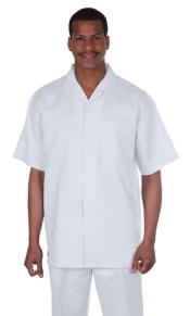 KA9210 Suit 100% Linen Fabric Short sleeve shirt &