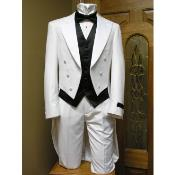 AC-265 Tail formal tux Jacket and pant combination White