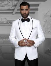 JSM-873 Mens Genova White Fashion Tux by STATEMENT