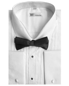 VR-2819 Tuxedo Dress Shirt with Bow-Tie Set French Cuff