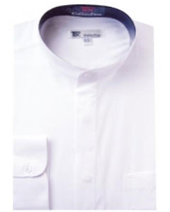 F-15G Band Collar Dress Shirts White