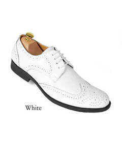 SD25 White dress Shoes