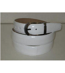 Genuine Authentic White Eel Belt