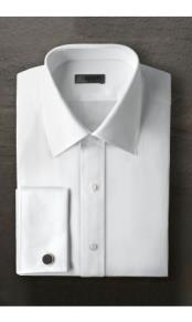 """JSM-2379 """"Marshall"""" Laydown White Tuxedo Shirt"""