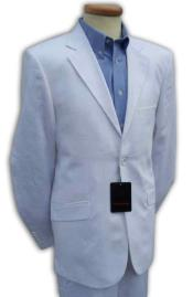 Product# WHT812 White Mens 2 Piece