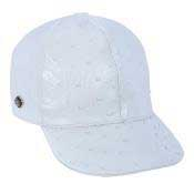 QVR32 Baseball White Genuine Ostrich Cap