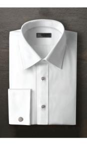 Logan Laydown White Tuxedo Shirt
