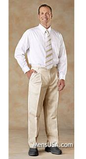 UXX3C Pleated Slacks Pants / Slacks Plus White Shirt