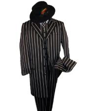 Liquid Jet Black Stripe ~ Pinstripe